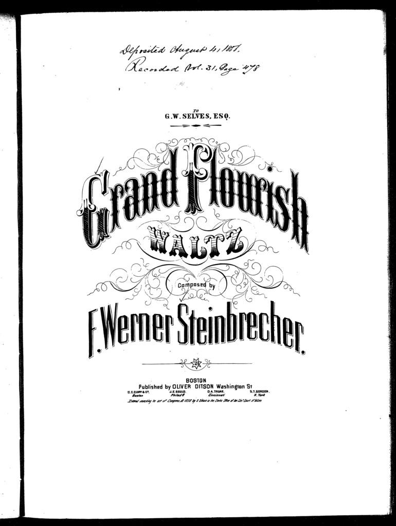 Grand flourish waltz