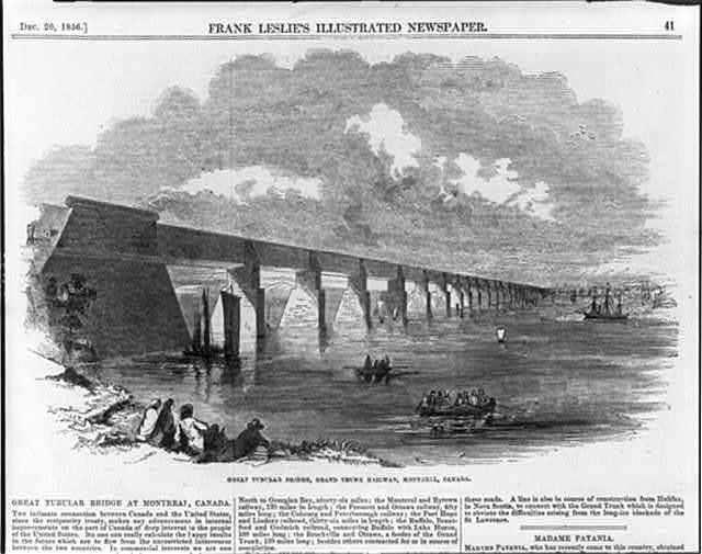 Great Tubular Bridge, Grand Trunk Railway, Montreal, Canada