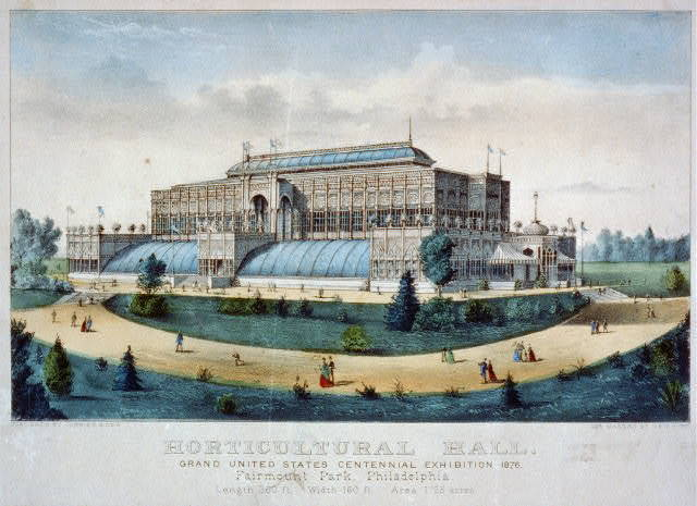 Horticultural hall: grand United States centennial exhibition 1876. Fairmount Park, Philadelphia