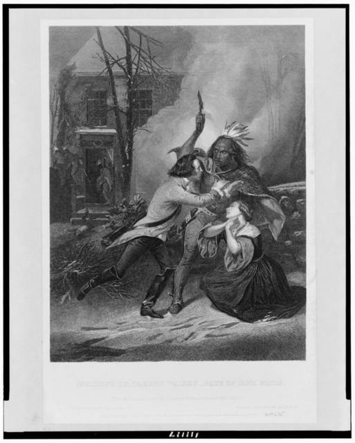 Incident in Cherry Valley - fate of Jane Wells / from the original picture by A. Chappel ... ; Thomas Phillibrown, engraver.