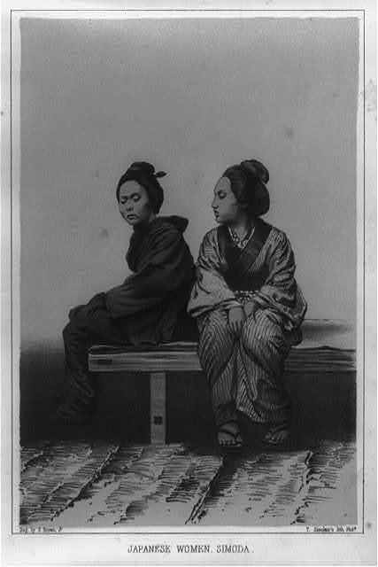Japanese women, Simoda / dag. by E. Brown, Jr. ; T. Sinclair's lith., Phila.