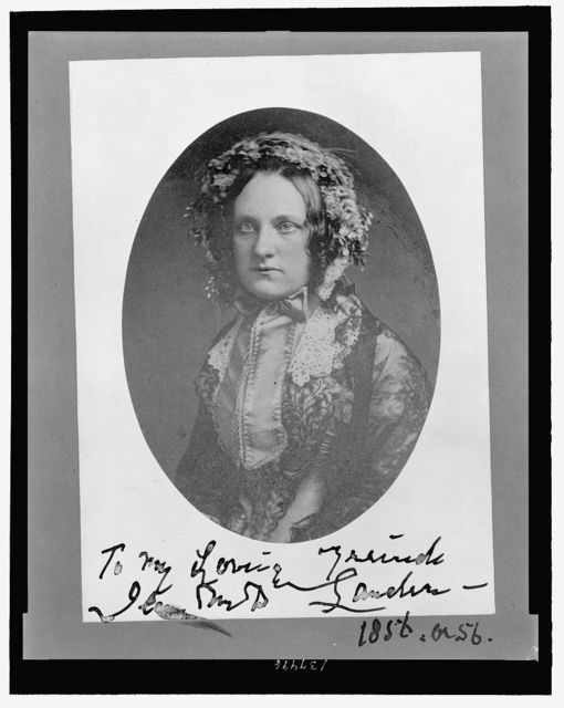 [Jean M. Lander, half-length portrait, seated]