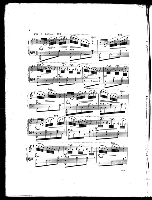 La  Donna e mobile, with variations, op. 613