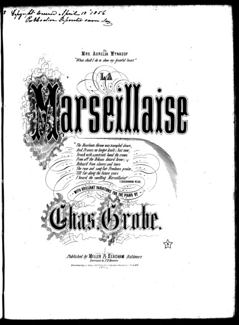 """La  Marseillaise"" with brilliant variations, op. 669"
