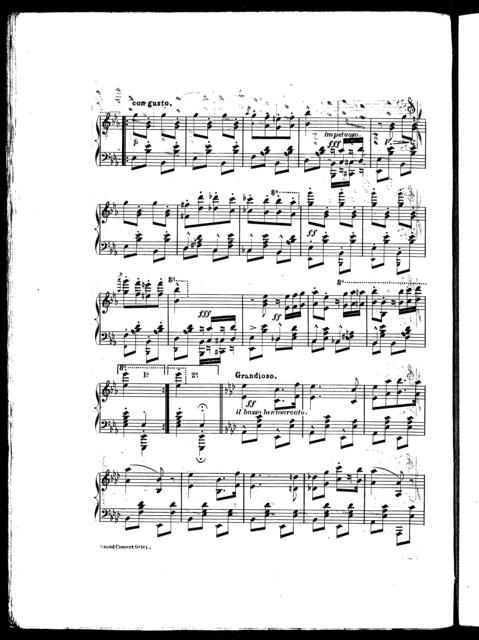 """""""Le  triomphe"""" grand concert galop, op. 40"""