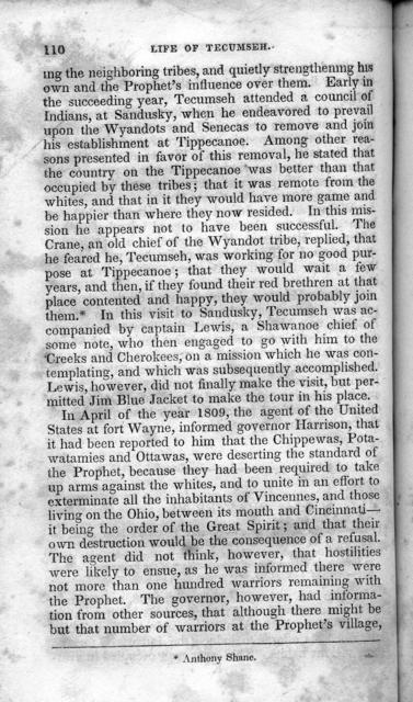 Life of Tecumseh, and of his brother the Prophet; with a historical sketch of the Shawanoe Indians