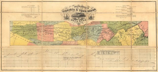 Map & profile of the Virginia & Tennessee Rail Road.