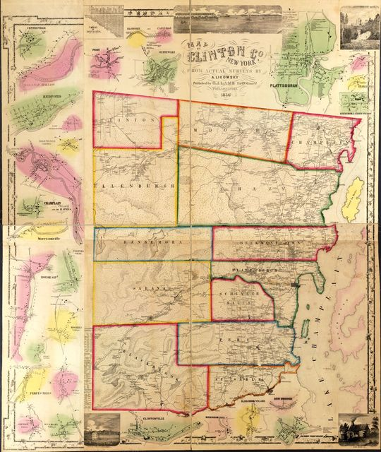 Map of Clinton Co., New York /