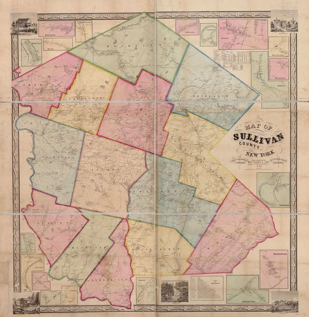 Map of Sullivan County, New York : from actual surveys /
