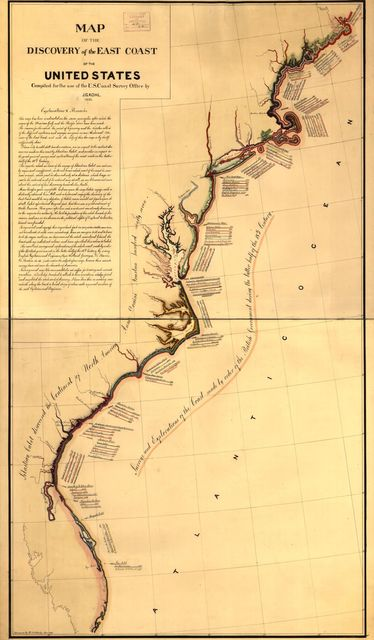 Map of the discovery of the ...