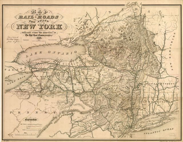 Map of the rail-roads of the state of New York prepared under the direction of the Rail Road Commissioners, John S. Clark, William J. McAlpine, James B. Swain.
