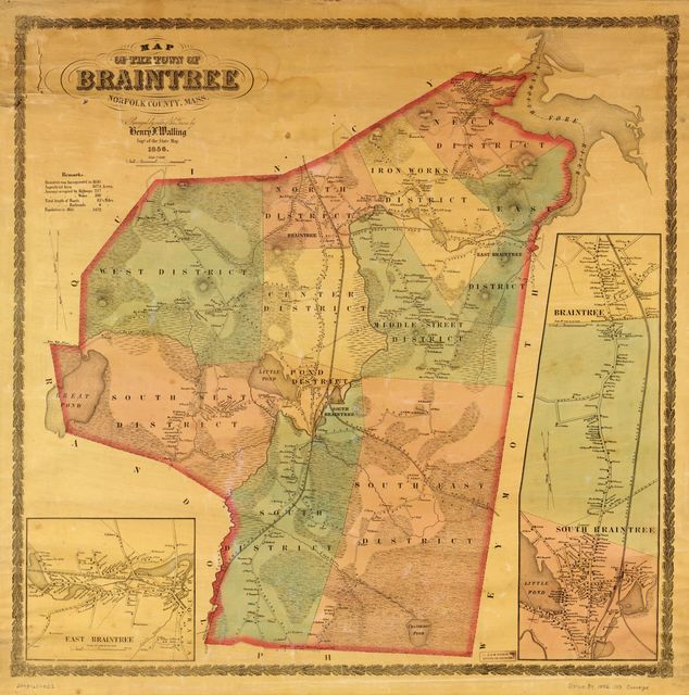 Map of the town of Braintree, Norfolk County, Mass. /