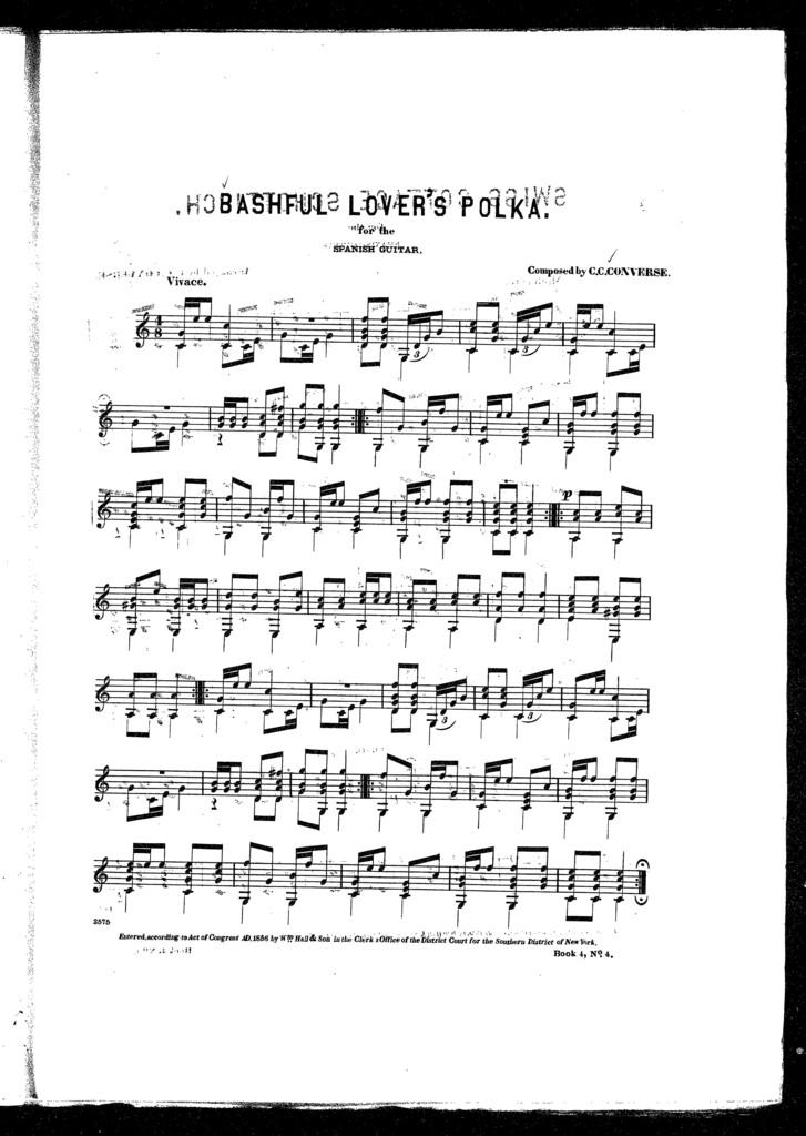 May party waltz -- Merry harvest galop -- Swiss cottage schottisch -- Bashful lovers polka