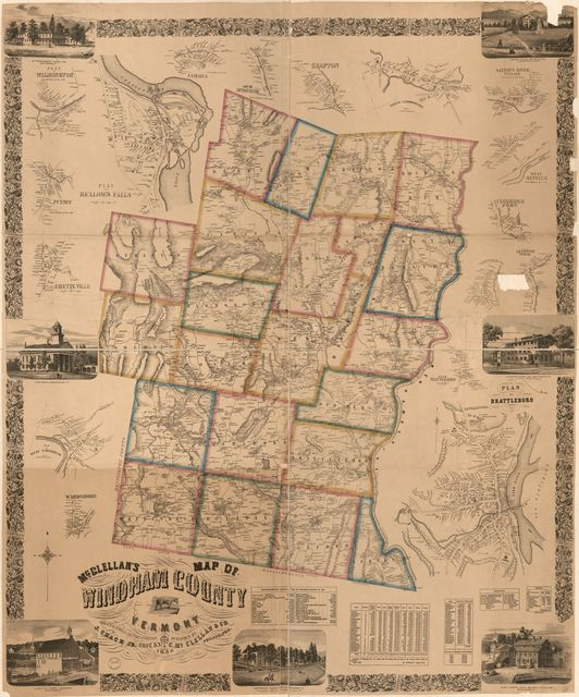 McClellan's map of Windham County, Vermont  /