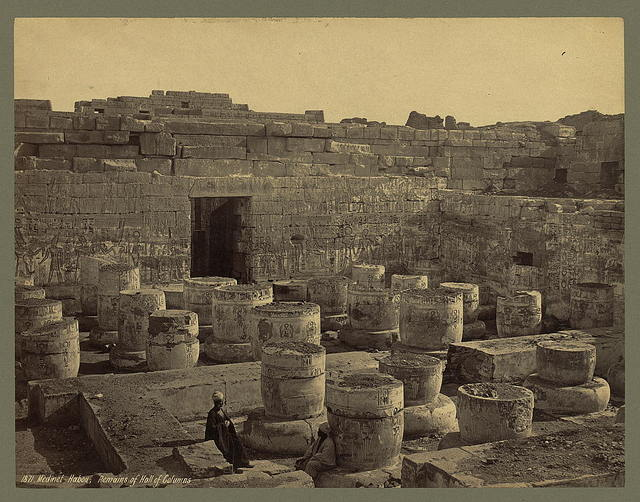 Medinet Habou. Remains of Hall of Columns
