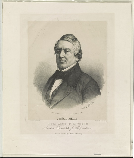 Millard Fillmore. American candidate for the presidency