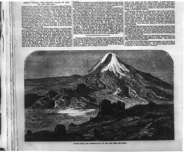 Mount Ararat, the resting place of the Ark after the flood