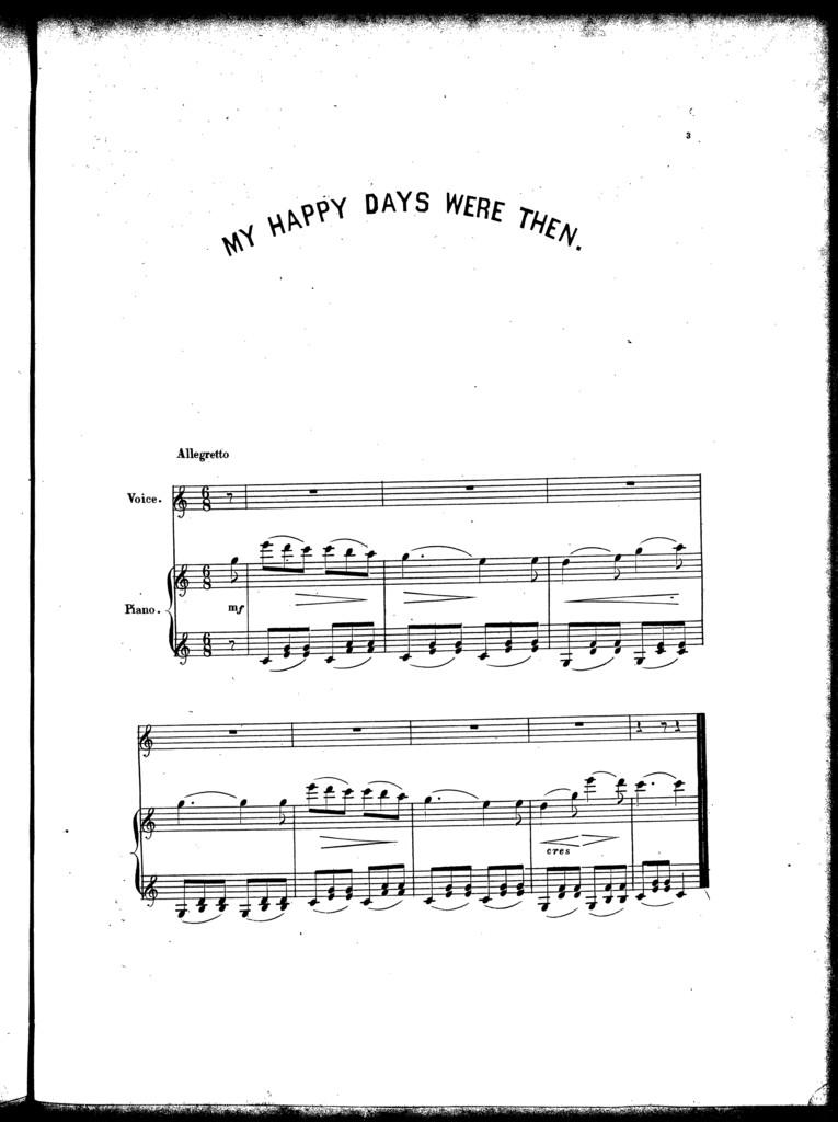 My happy days were then, ballad