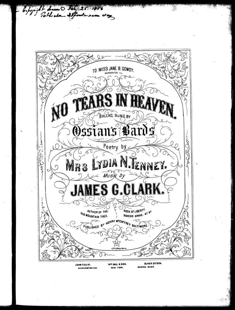 No tears in heaven, ballad