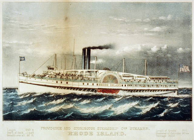 Providence and Stonington Steamship Co's. steamer, Rhode Island