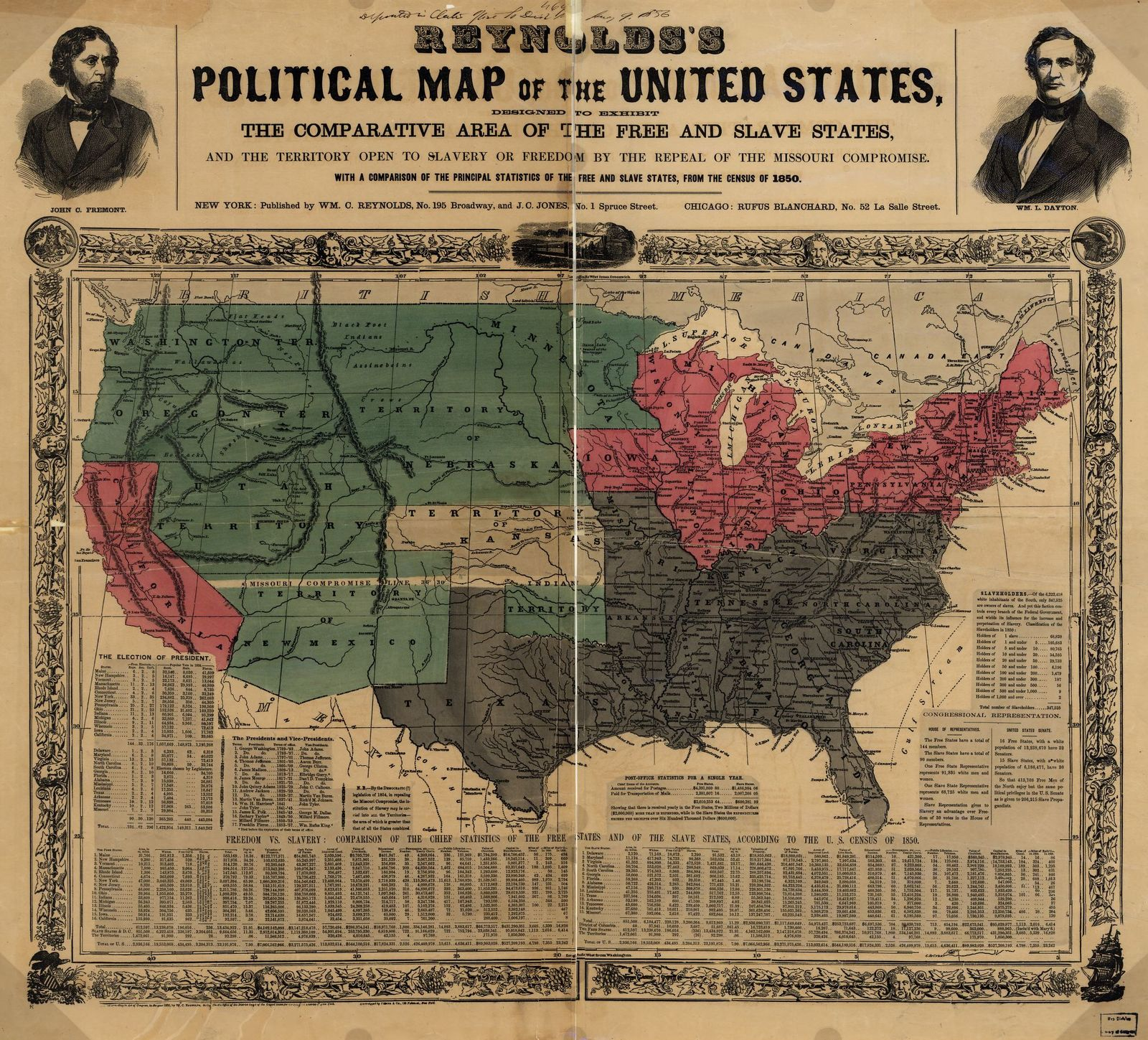 Reynolds S Political Map Of The United States Designed To Exhibit