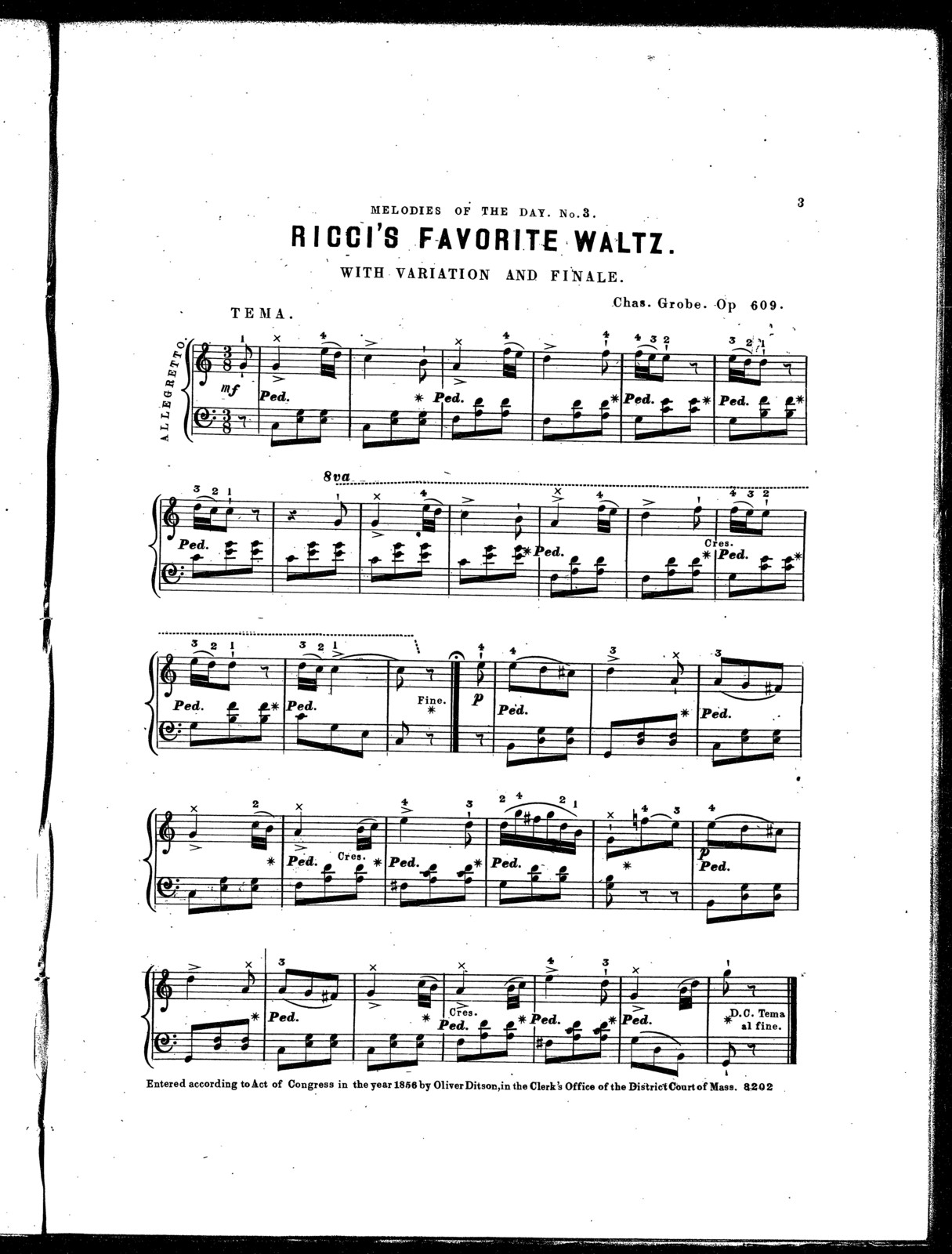 Ricci's favorite waltz, with variation and finale, op. 609