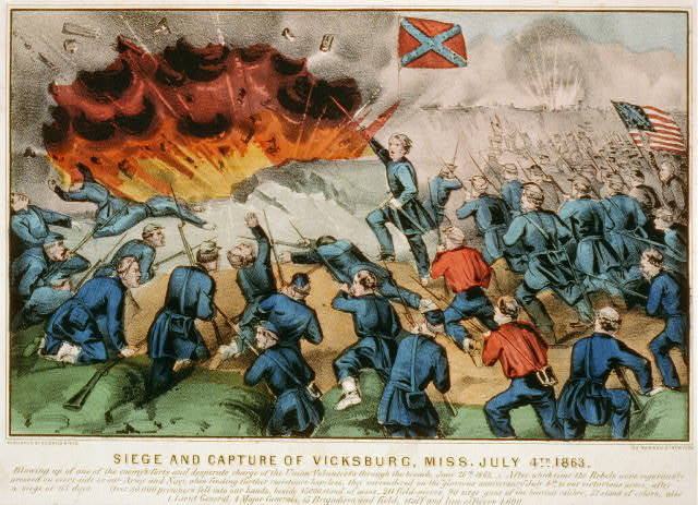 Siege and capture of Vicksburg, Miss. July 4th 1863