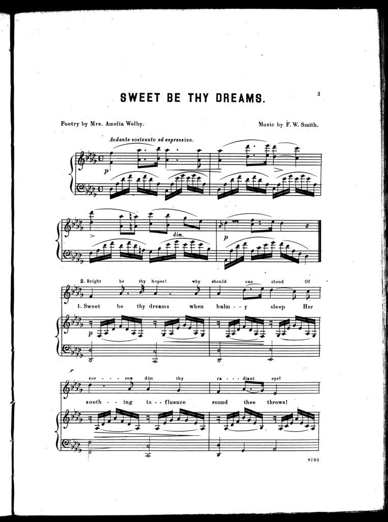 Sweet be thy dreams