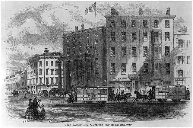 The Boston and Cambridge new horse railroad / .