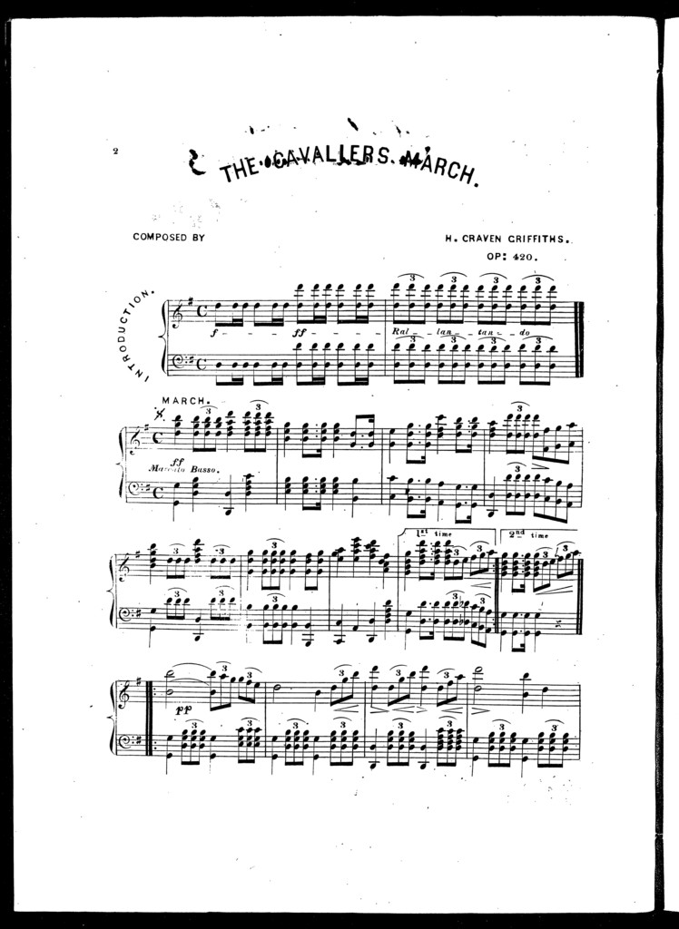 The  cavaliers march, op. 420