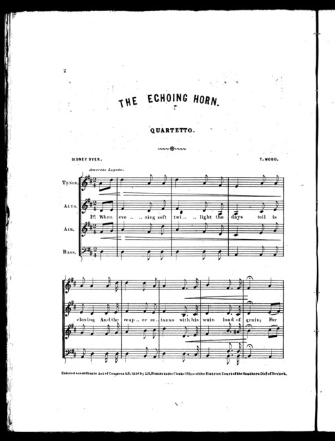 The  echoing horn
