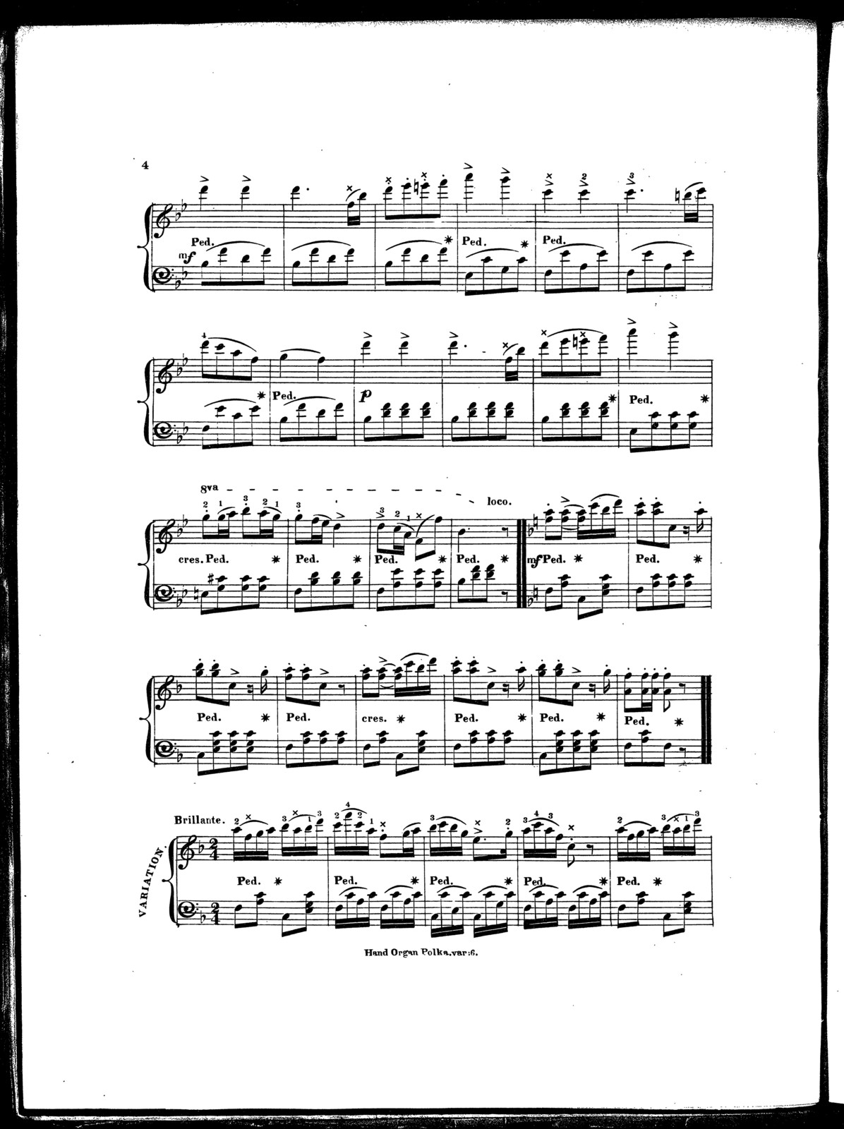 The  hand organ polka, with var. and finale, op. 779
