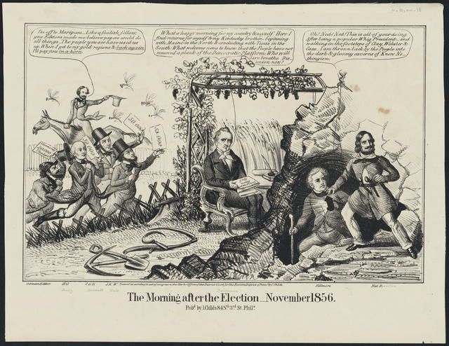 The morning after the election _ November 1856.