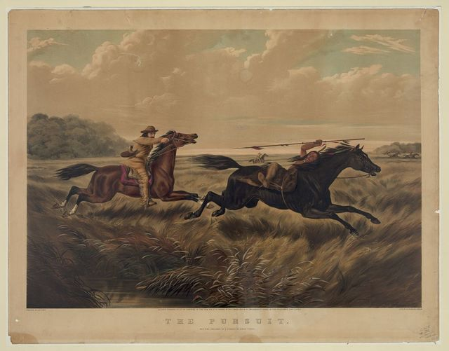 The pursuit / painted by A.F. Tait ; L. Maurer, 55 ; lith. of N. Currier, N. York.