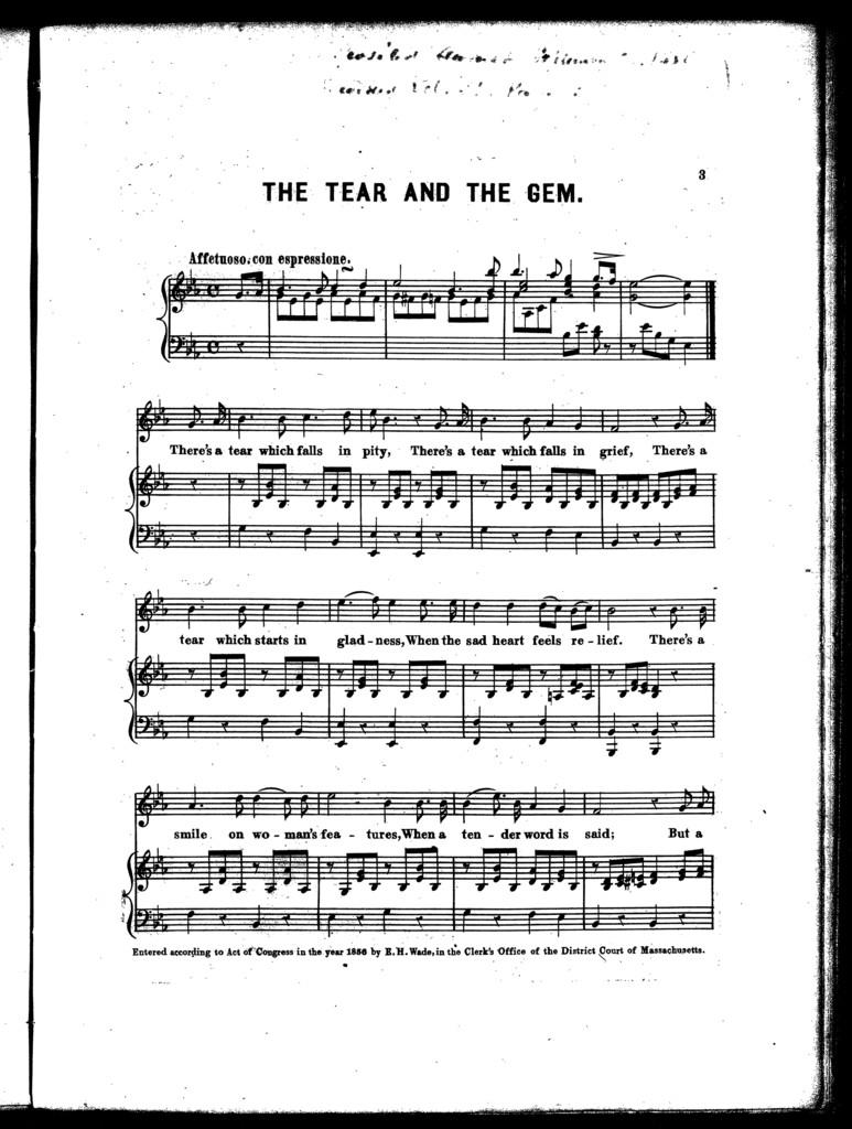 The  tear and the gem ballad