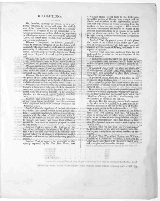 The undersigned would respectfully call upon the Republican party of the United States to make arrangements for a grand national demonstration and inauguration, in every county of the Union, if possible, at as early a day as practicable, and on