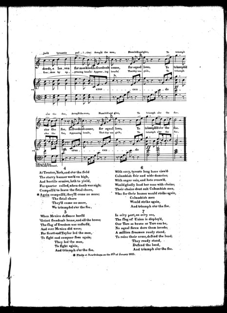 The  victorious freemen, a new national song