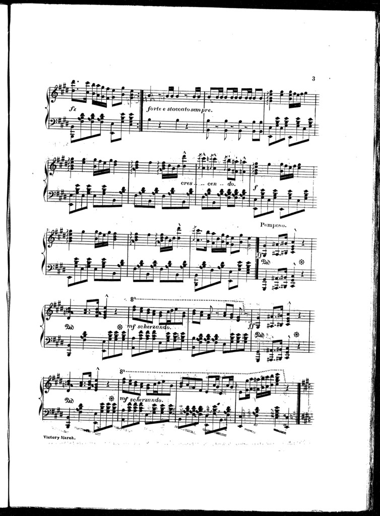 Victory! A favorite Prussian march, op. 9