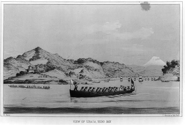 View of Uraga, Yedo Bay / W. Heine ; T. Sinclair's Lith., Phila.