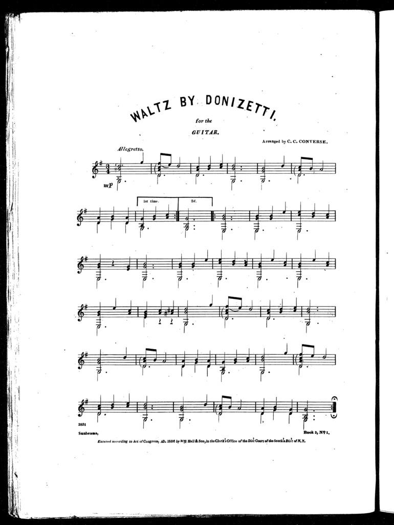 Waltz by Donizetti -- Spanish hop waltz -- Melody by Donizetti -- Keemo kimo polka