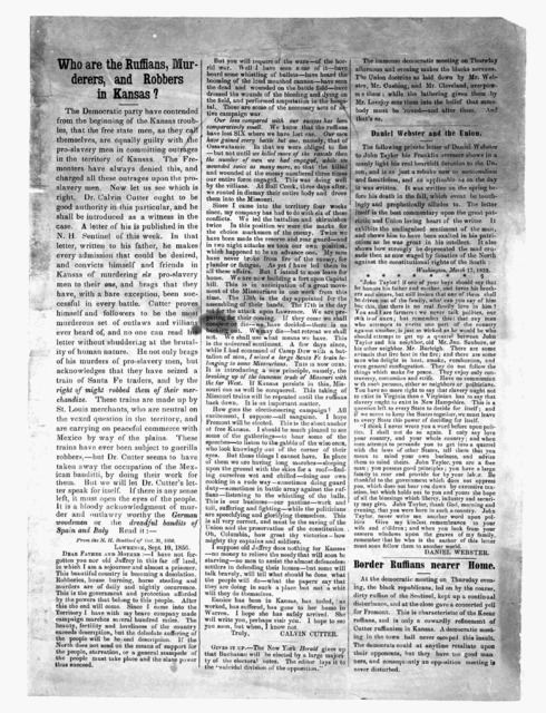 Who are the ruffians, murderers, and robbers in Kansas? [1856?]