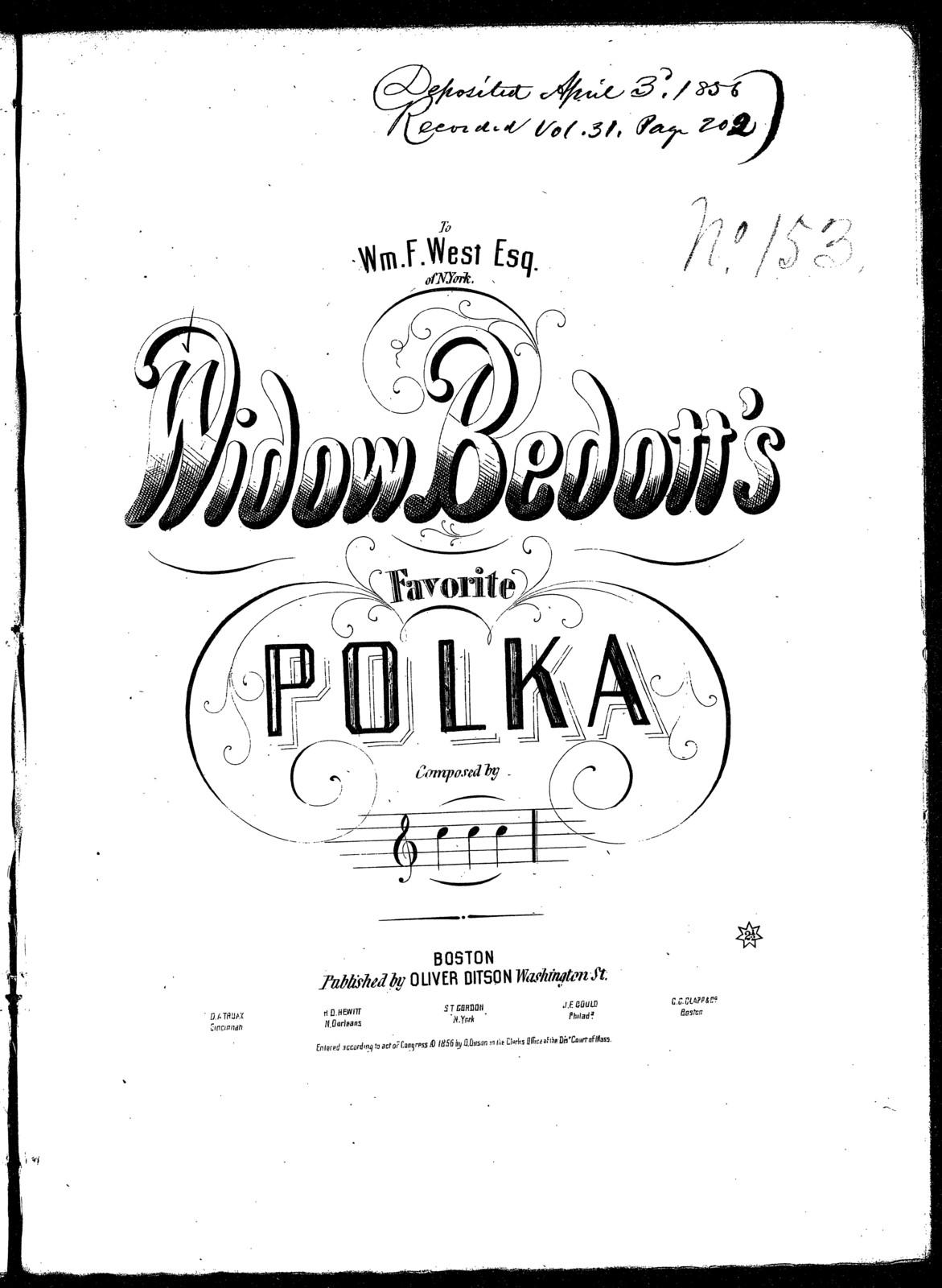 Widow Bedott's favorite polka