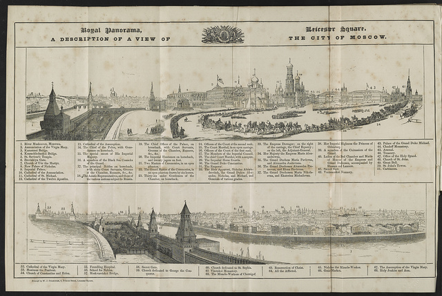 A description of a view of the city of Moscow