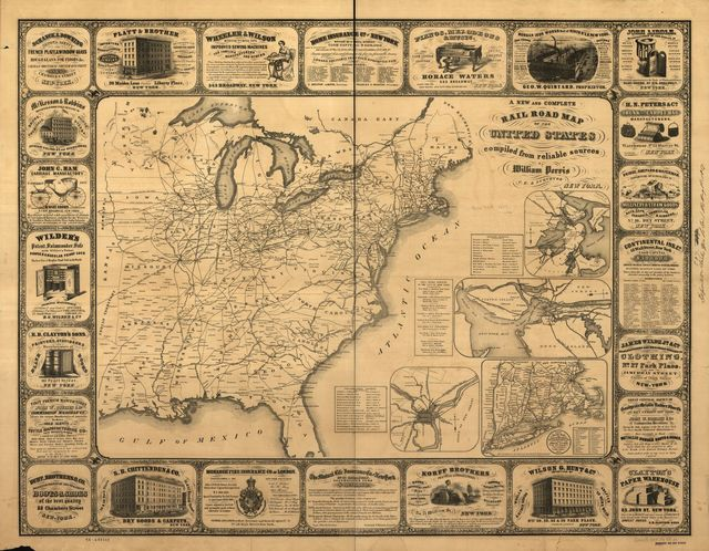 A new and complete railroad map of the United States compiled from reliable sources.