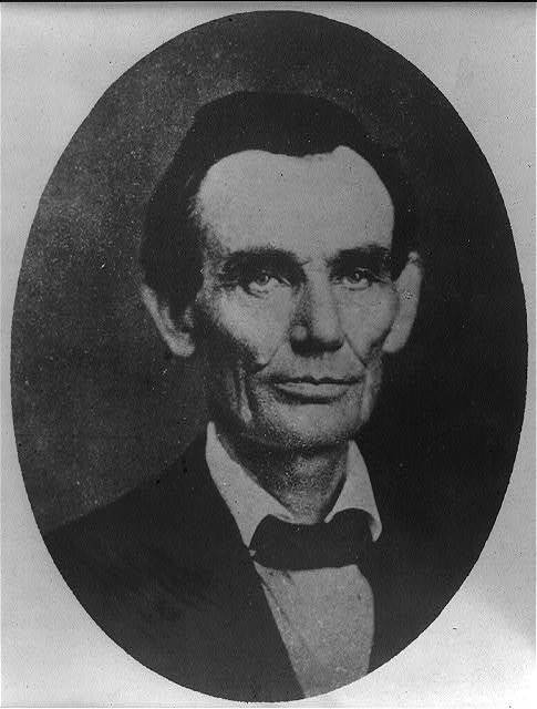 [Abraham Lincoln while a traveling lawyer, taken in Danville, Illinois