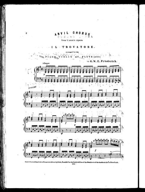 Anvil chorus from opera Il Trovatore