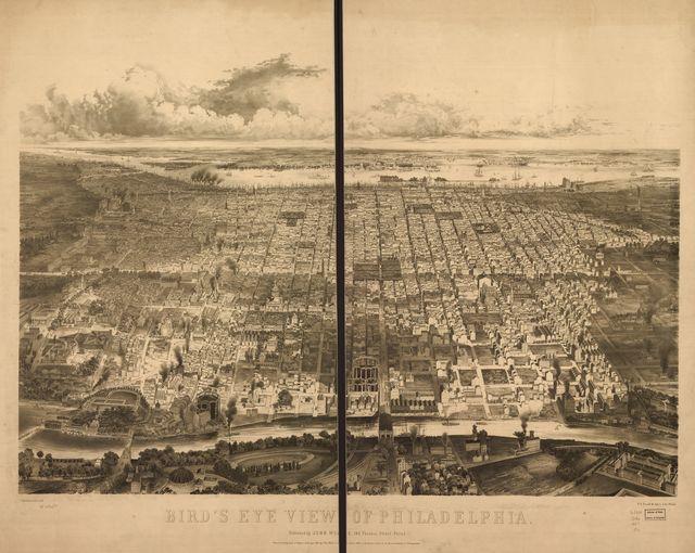 Bird's eye view of Philadelphia.