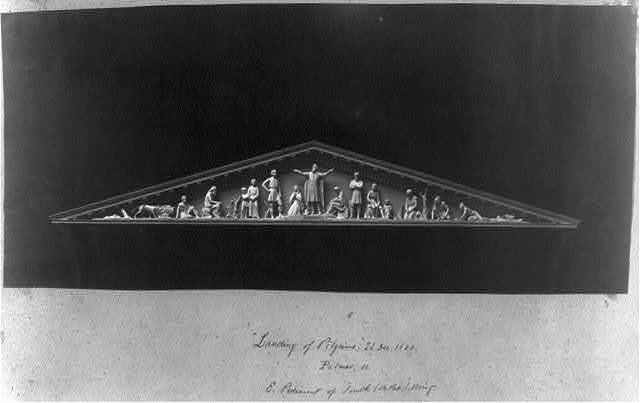 [Capitol, maquette of sculpture 'Landing of Pilgrims' for east pediment of the south wing of the House of Representatives]