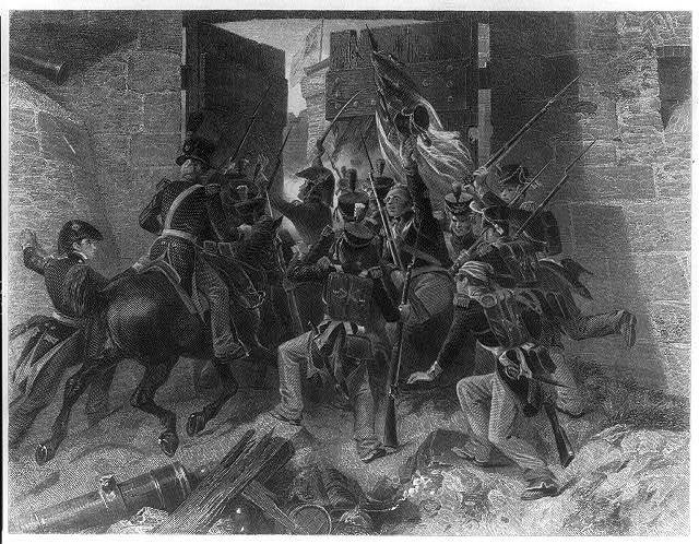 Capture of Fort George (Col. Winfield Scott leading the attack) / Chappel.