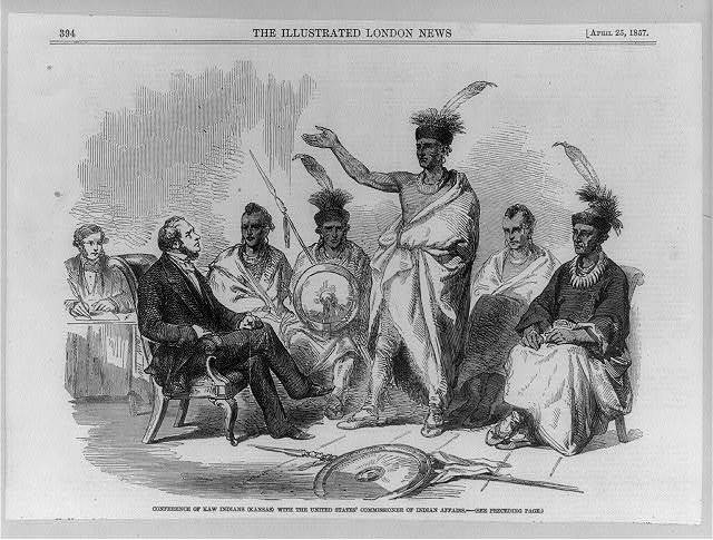 Conference of Kaw Indians (Kansas) with the United States Commission of Indian Affairs